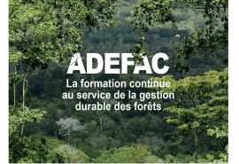 ADEFAC, the training project in Central Africa, enters its second year