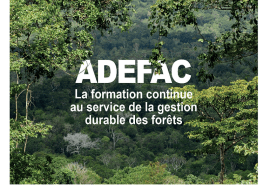 ATIBT publishes a FAQ on the ADEFAC project