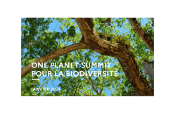 "One Planet Summit ""mobilize and act for biodiversity"""