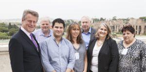 Nouveau bureau du GTF (de gauche à droite) : Andreas von Möller, George White, Francisco Grotewold, Rachel Butler, John Halkett, Cindy Squires, and Françoise Van de Ven.